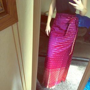 Dresses & Skirts - Metallic Wrap Skirt NWOT
